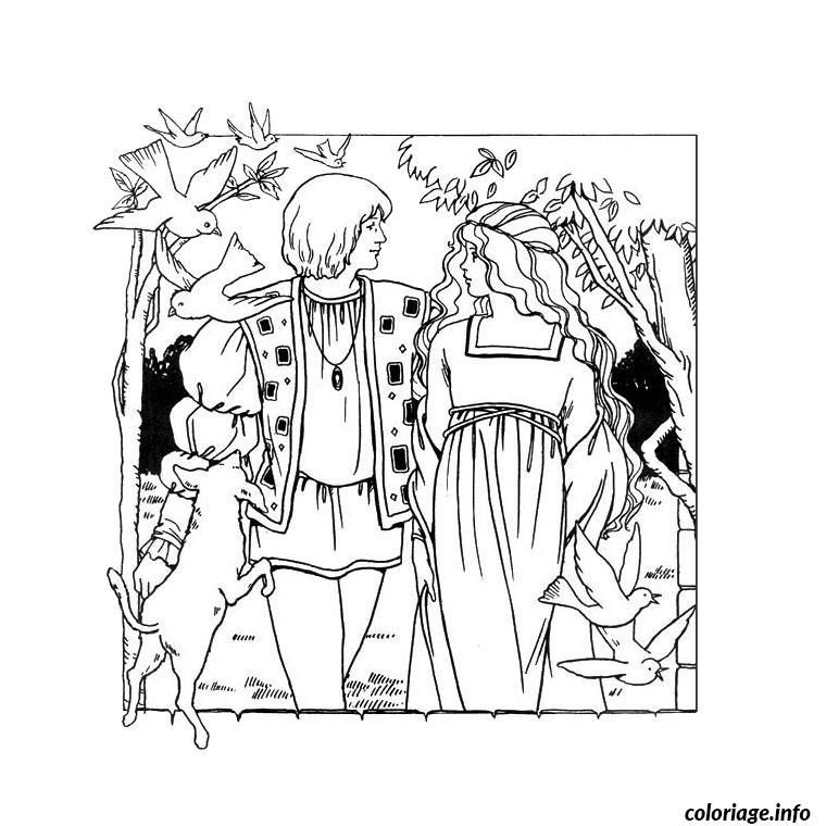 Dessin chevalier princesse Coloriage Gratuit à Imprimer