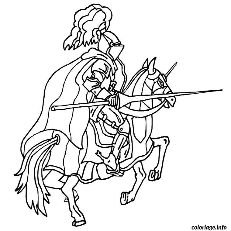 Dessin chevalier moyen age Coloriage Gratuit à Imprimer