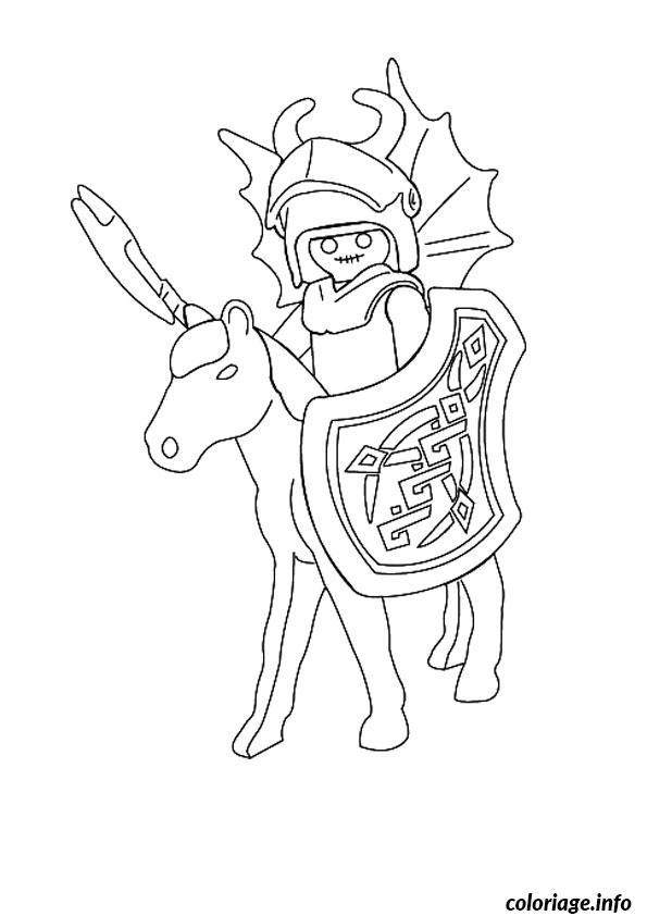 Coloriage playmobil chevalier dessin - Playmobil coloriage ...
