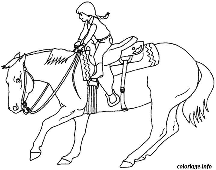 Coloriage Fille Sur Cheval.Coloriage Chevaux Grand Galop Jecolorie Com