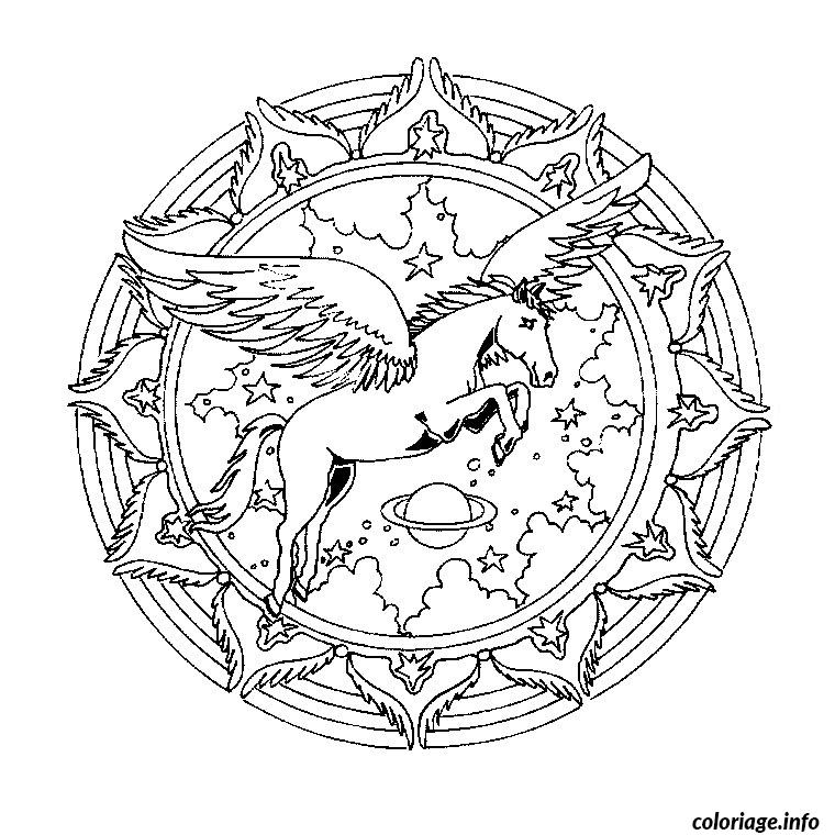 Coloriage mandala cheval - Chevaux a colorier et a imprimer ...