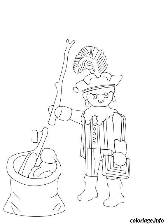 Coloriage Chevalier Playmobil dessin