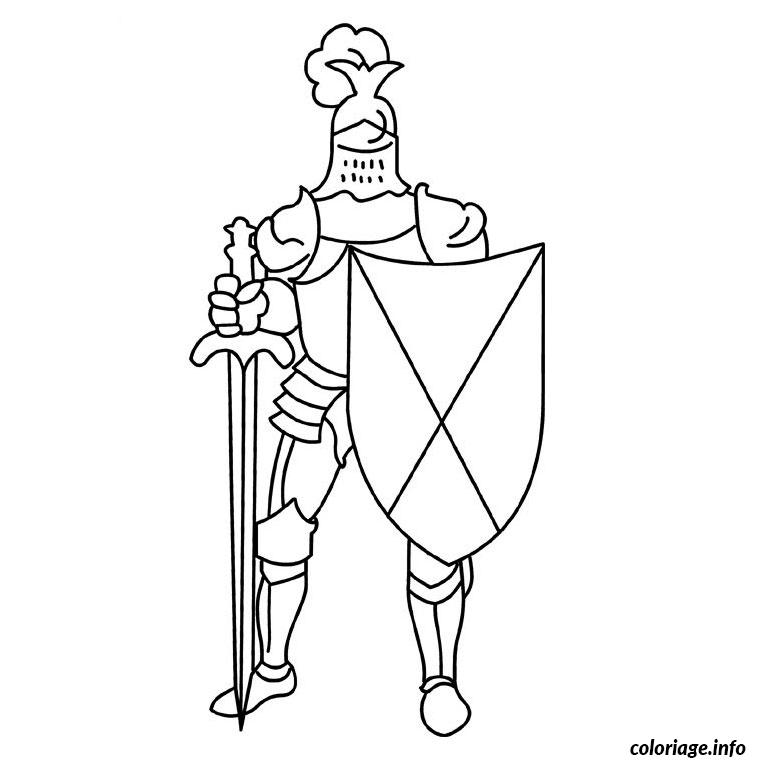 Coloriage chevalier - Dessin chevalier ...