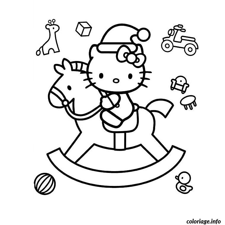 Coloriage hello kitty sur un cheval dessin - Dessin de hello kitty facile ...