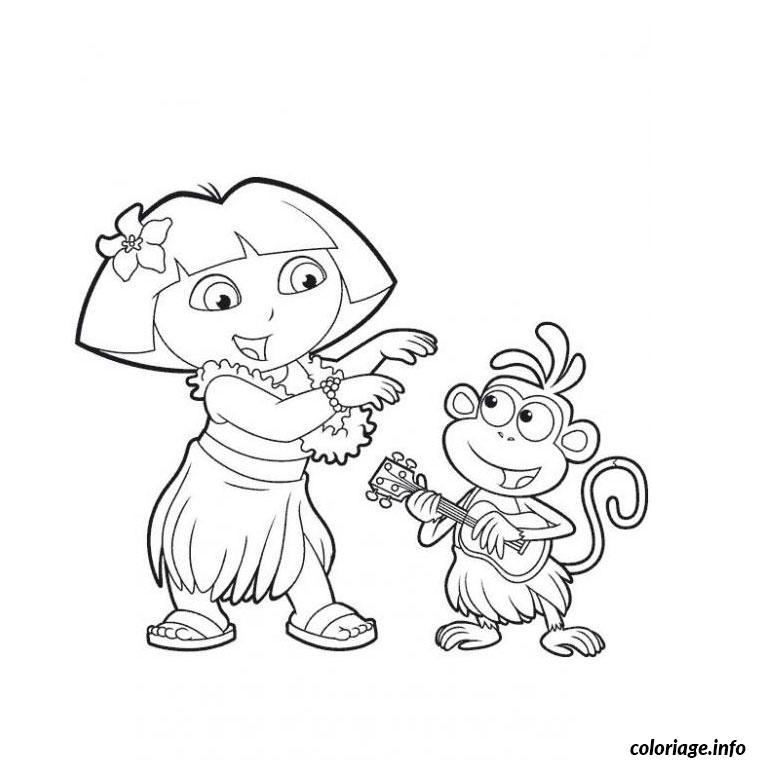 Coloriage dora danseuse dessin - Jeux de go diego ...