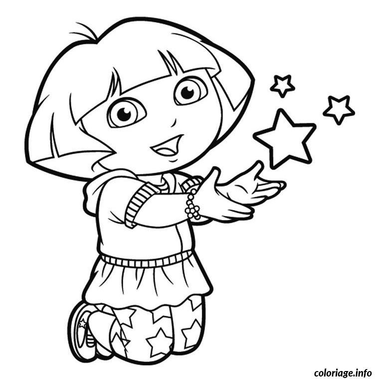 Coloriage De Dora Dessin Dora A Imprimer