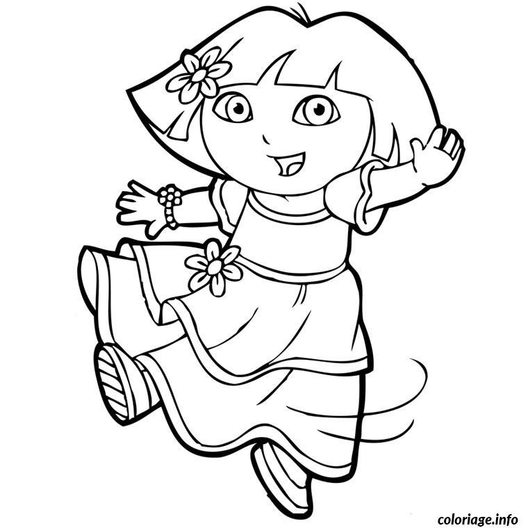 Coloriage Dora Sirene Dessin Dora A Imprimer