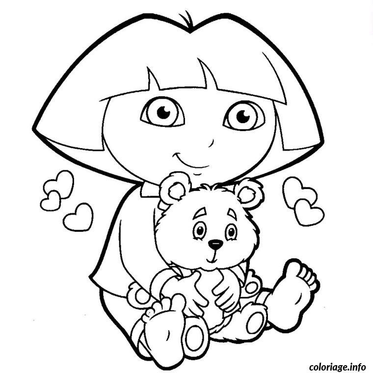 Coloriage dora exploratrice dessin - Coloriages dora ...