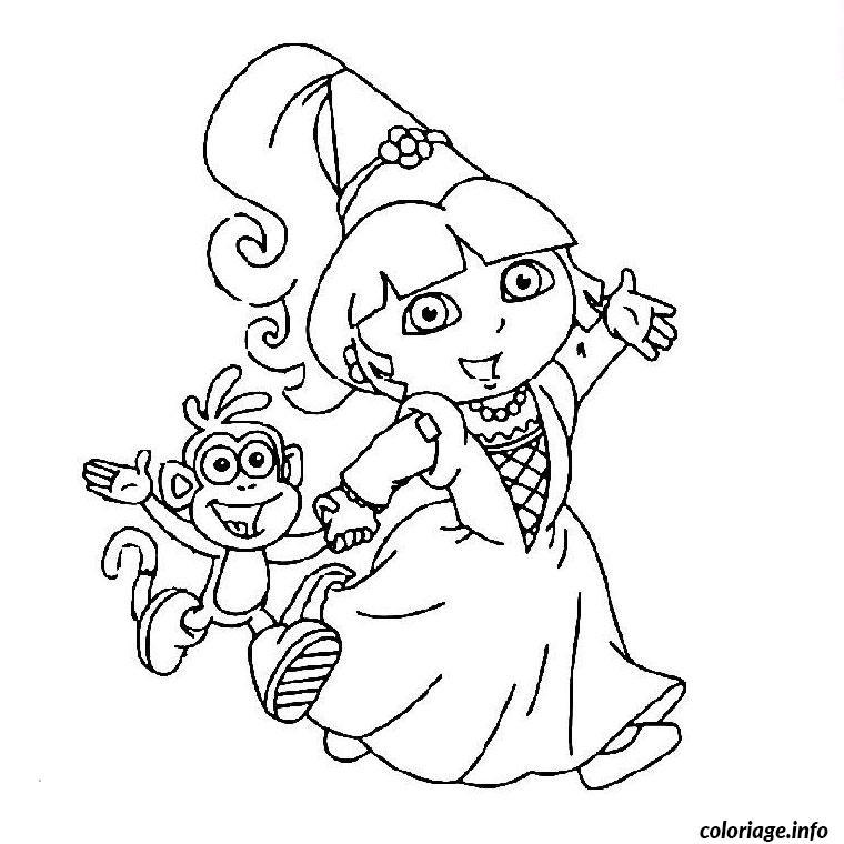 Coloriage dora la princesse dessin - Image a colorier et imprimer gratuitement ...