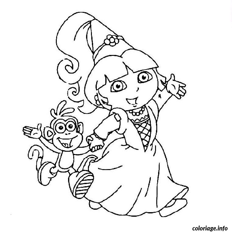 Coloriage dora la princesse dessin - Dessin de dora ...