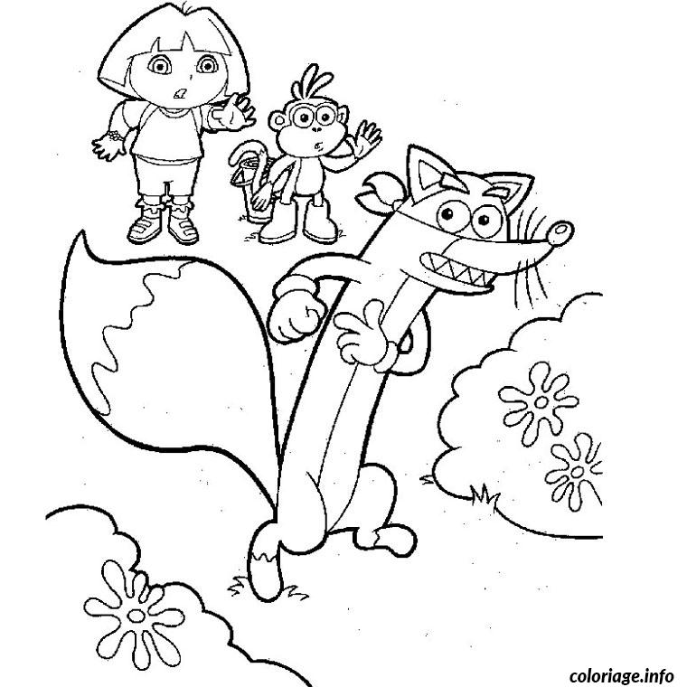 Coloriage dora chipeur dessin - Coloriages dora ...