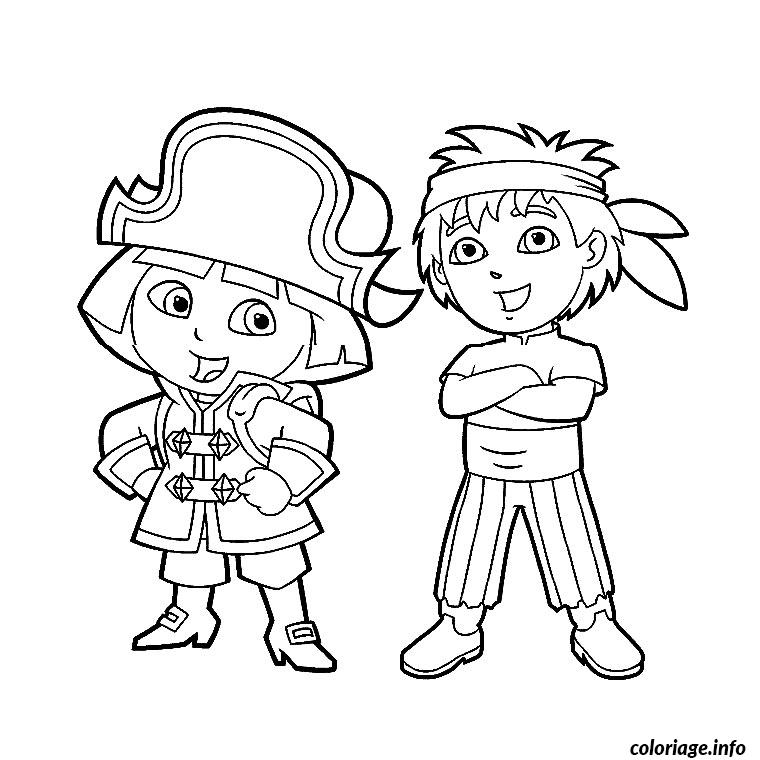Coloriage dora diego - Coloriages dora ...