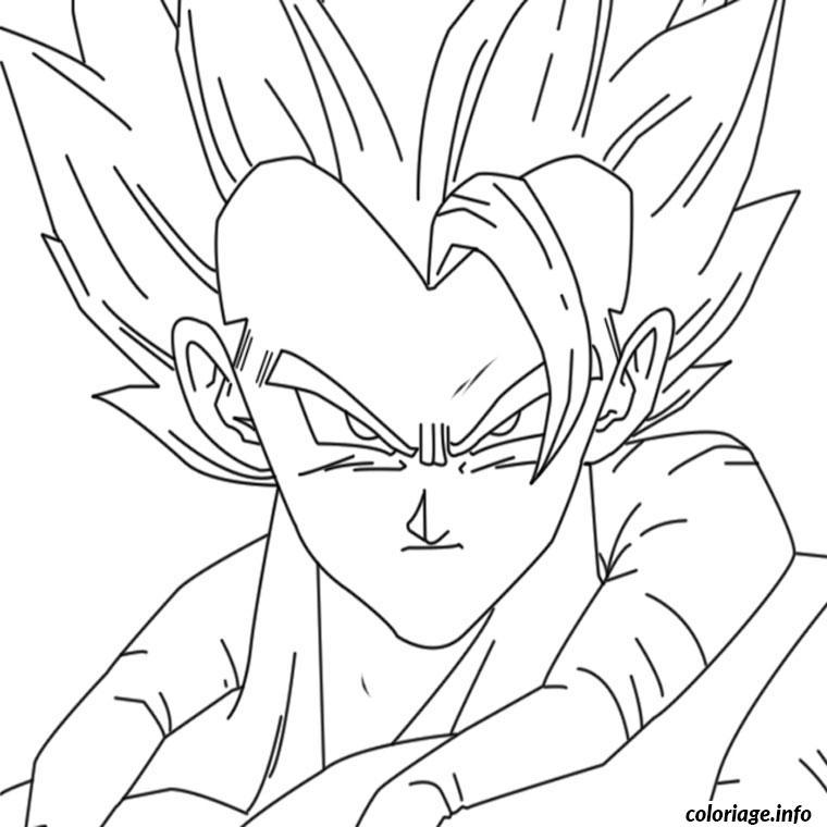 Coloriage Dragon Ball Z Gogeta Dessin