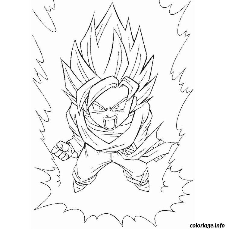 Coloriage Dragon Ball Z Sangoten Dessin