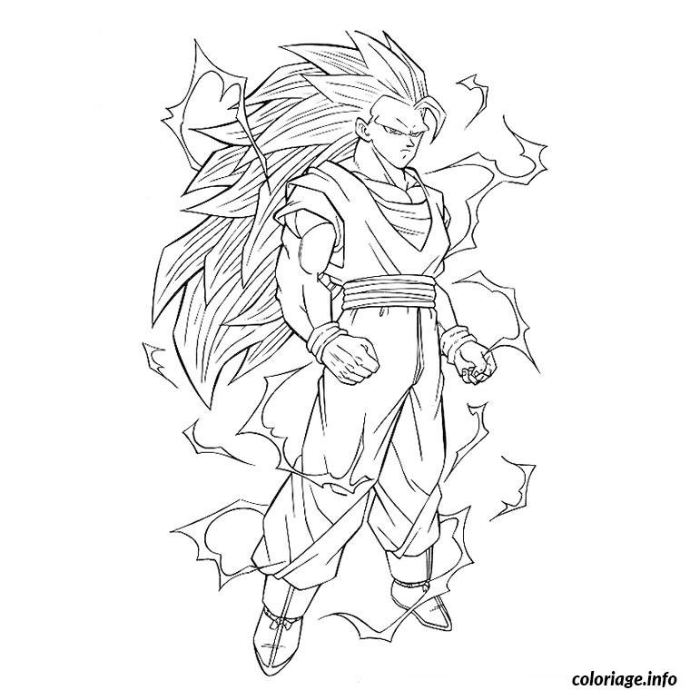 Coloriage dragon ball z super saiyan dessin - Dessin dragon ball z facile ...