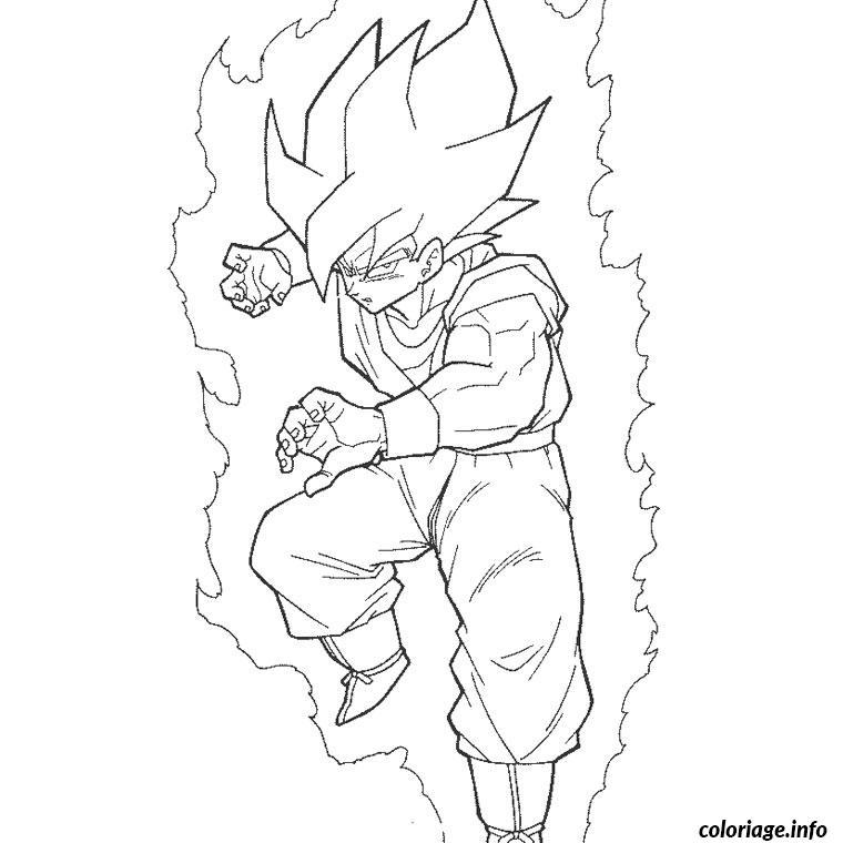 Coloriage Dragon Ball Z Super Sayen Jecolorie Com