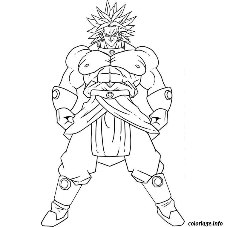 Coloriage dragon ball z broly - Coloriage gratuit dragon ball z ...