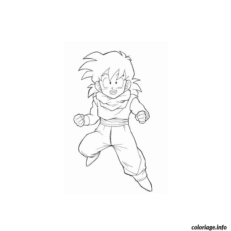 Coloriage dragon ball z gohan dessin - Dessin dragon ball z facile ...