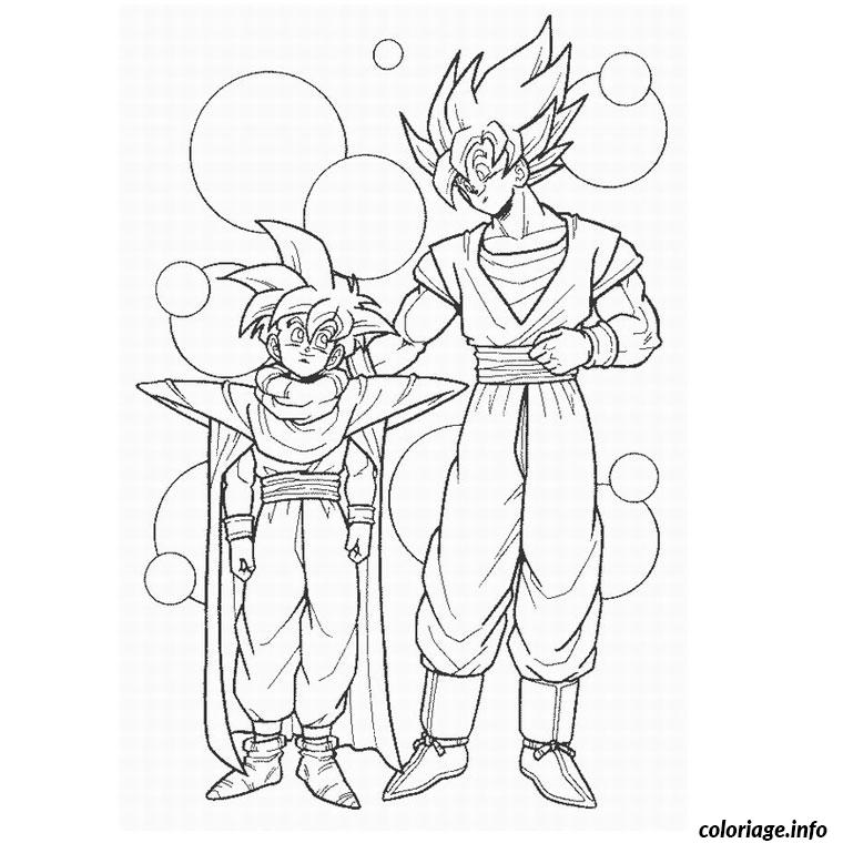 Coloriage dragon ball z et gt - Dessin de vegeta ...