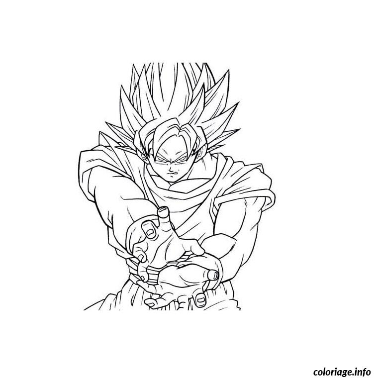 Coloriage Dragon Ball Z Sangoku Dessin