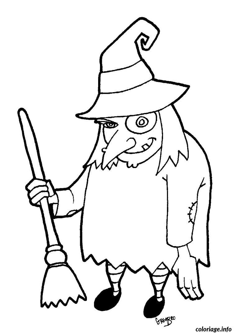 halloween de sorciere coloriage dessin 454