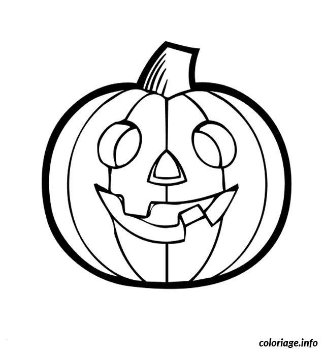 Dessin halloween de citrouille Coloriage Gratuit à Imprimer