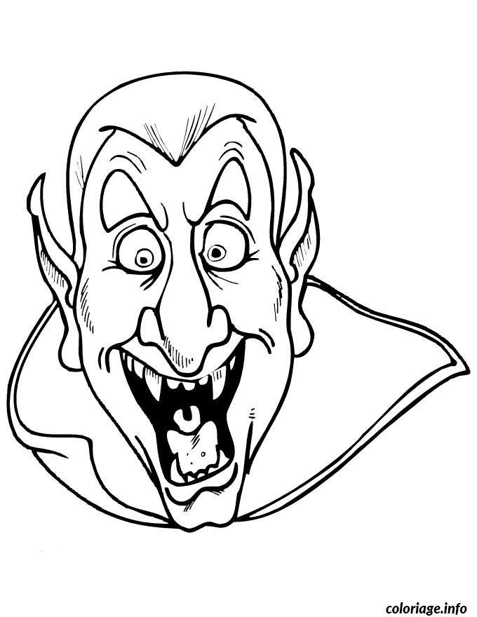 Coloriage halloween dracula dessin - Dessins a colorier gratuits a imprimer ...
