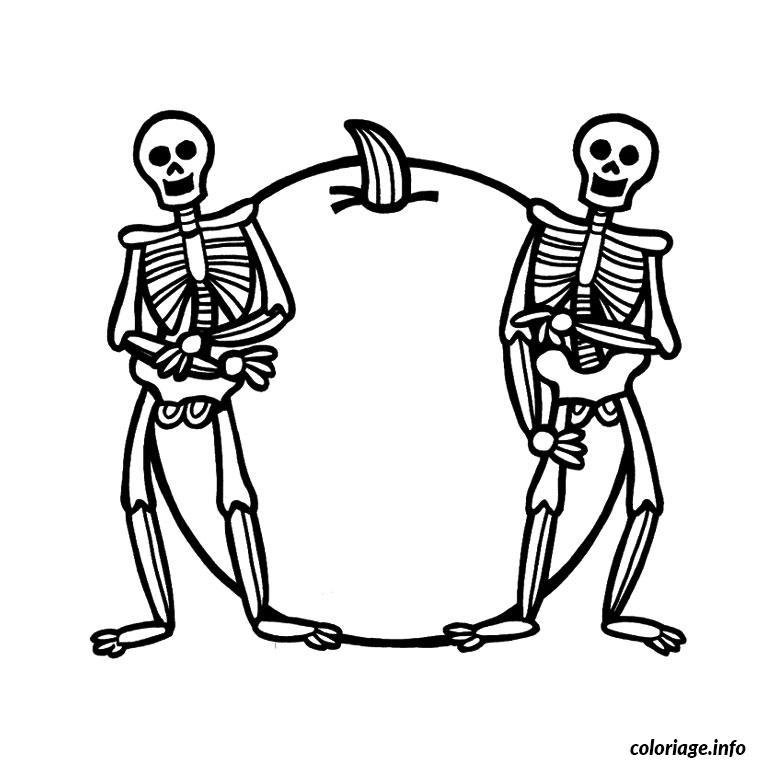 Squelette Dessin Halloween.Coloriage Halloween Squelette Jecolorie Com