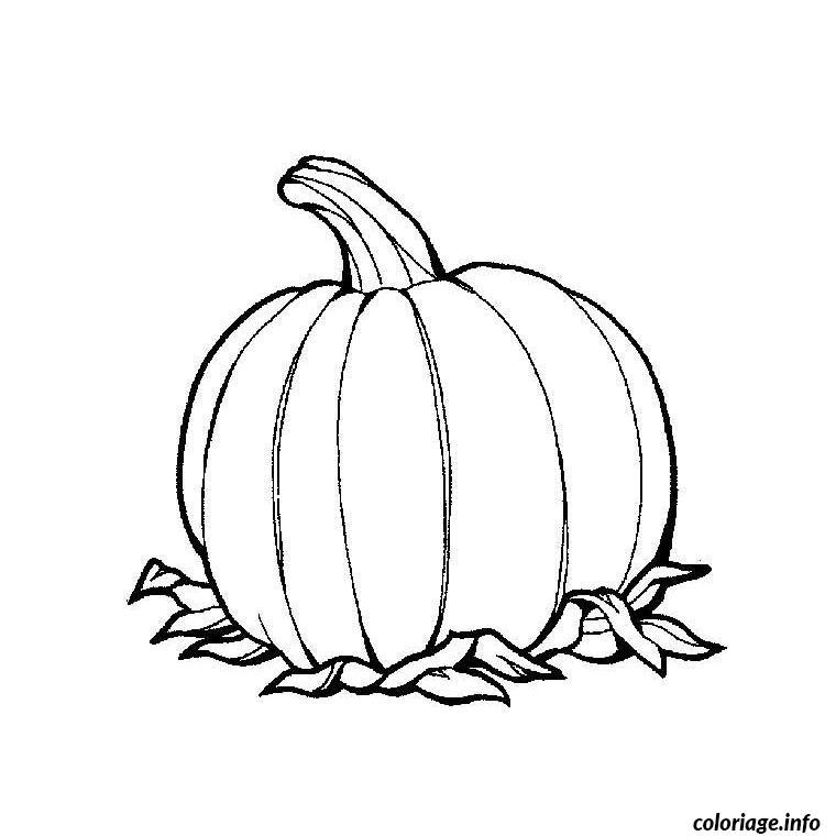 Coloriage Citrouille Dessin Halloween A Imprimer