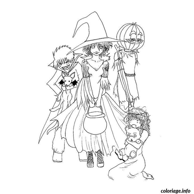 Exceptionnel Coloriage Halloween Pour Grand dessin SK39