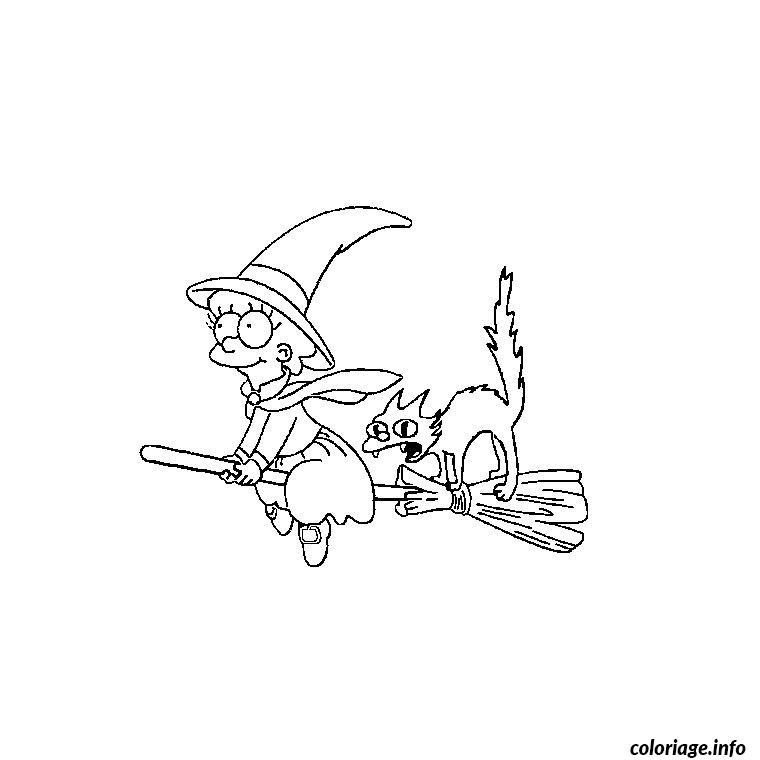 Coloriage halloween simpson dessin - Coloriage des simpsons ...