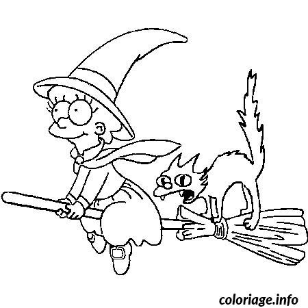Coloriage halloween des simpson dessin - Dessins a imprimer halloween ...