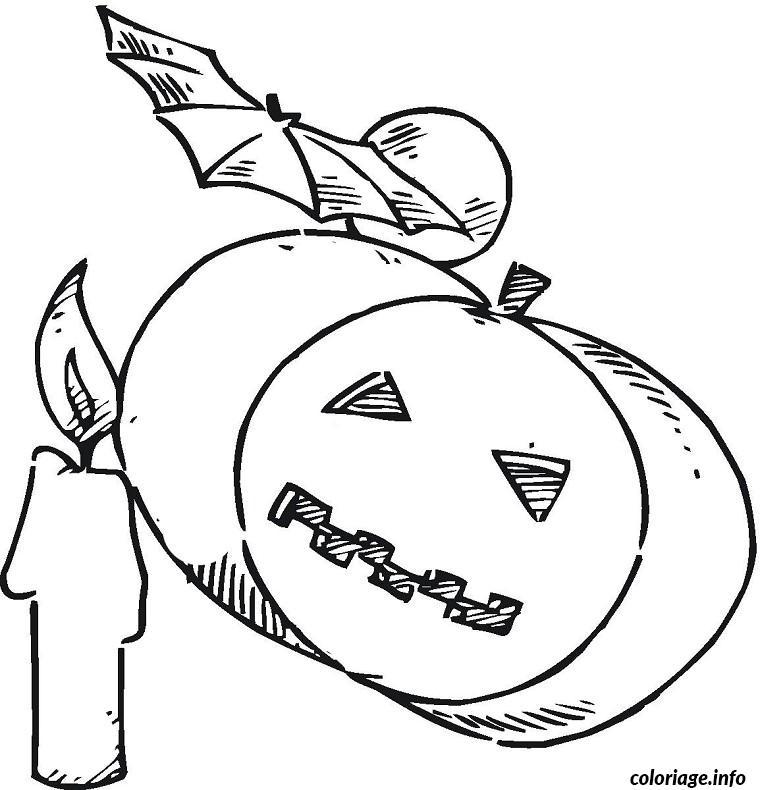 halloween citrouille coloriage dessin 495