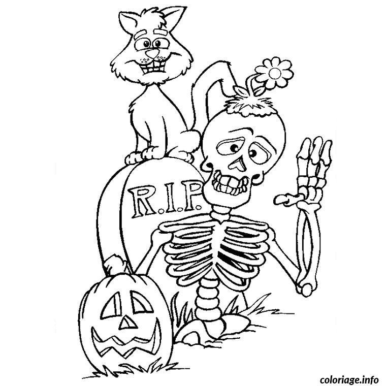 Coloriage Halloween Qui Fait Peur Dessin