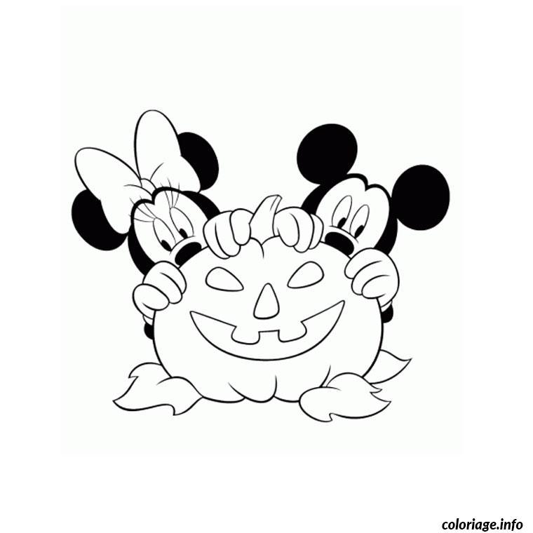 Dessin mickey halloween Coloriage Gratuit à Imprimer