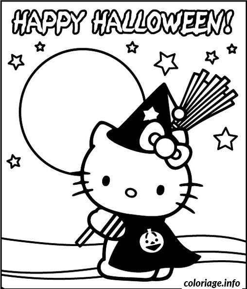 Coloriage halloween hello kitty dessin - Colorier kitty ...