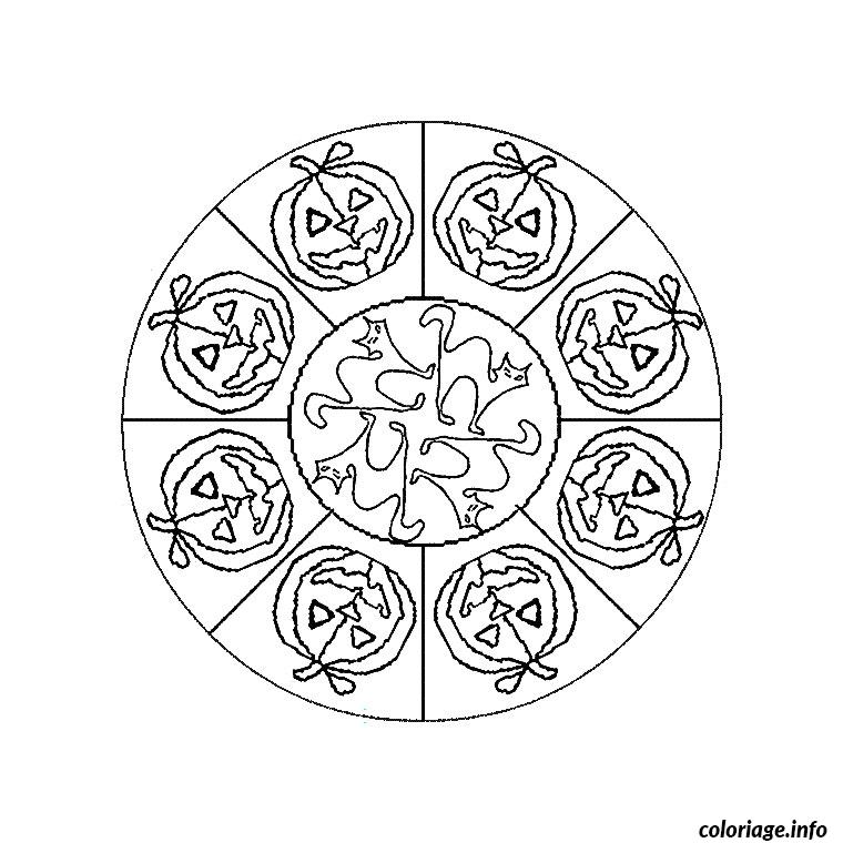 coloriage mandala halloween dessin. Black Bedroom Furniture Sets. Home Design Ideas