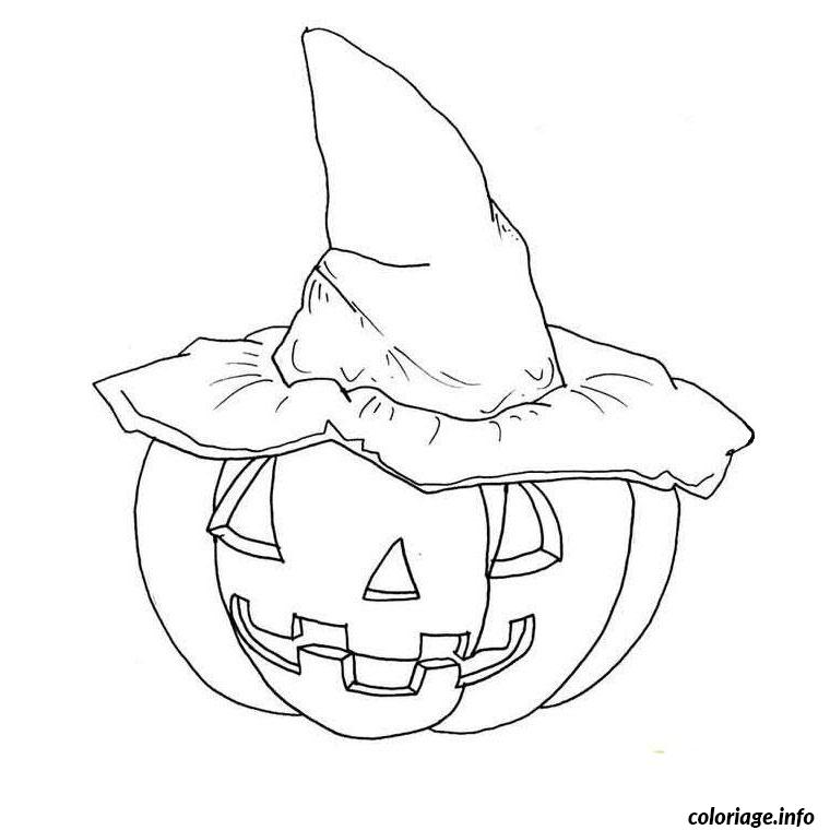 Coloriage citrouille d halloween dessin - Coloriages d halloween ...