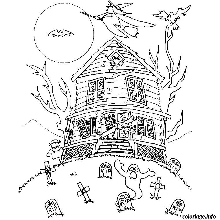 coloriage halloween qui font peur dessin gratuit