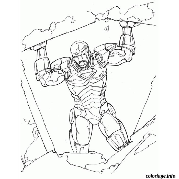 iron man en danger coloriage dessin 522