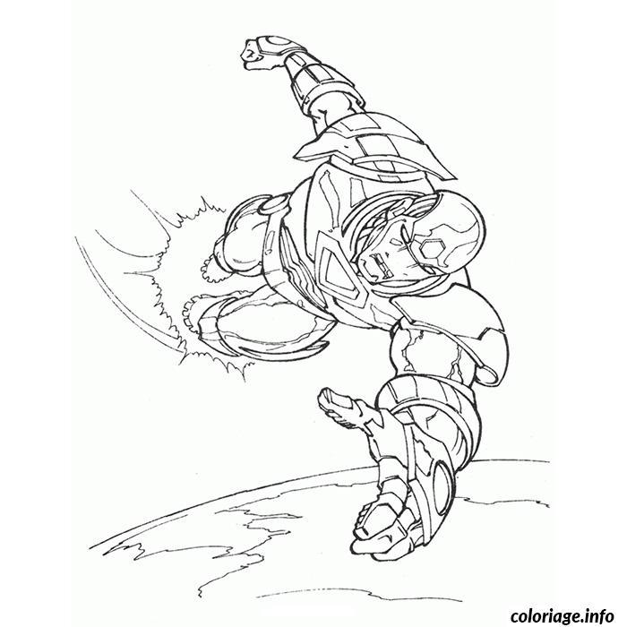 Coloriage Iron Man En Plein Vol Jecolorie Com