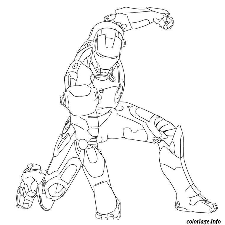 Coloriage iron man - JeColorie.com