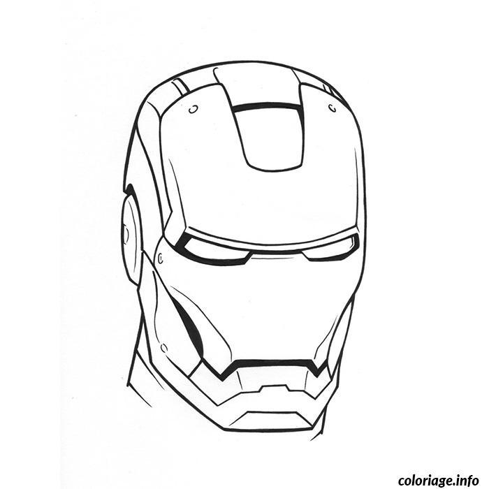 Coloriage tete de iron man dessin - Coloriage de iron man ...