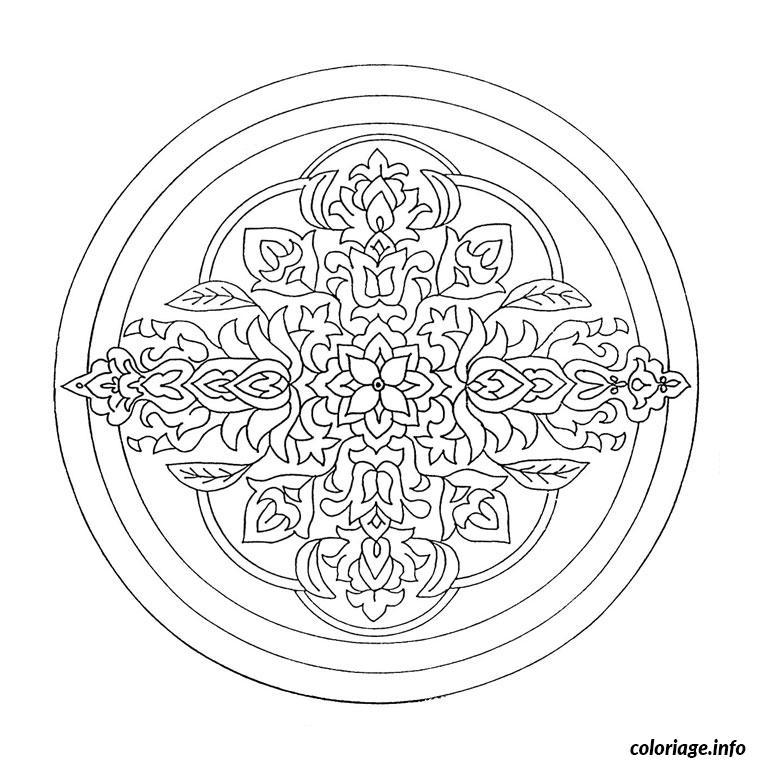 Coloriage Mandala Difficile 7 Dessin
