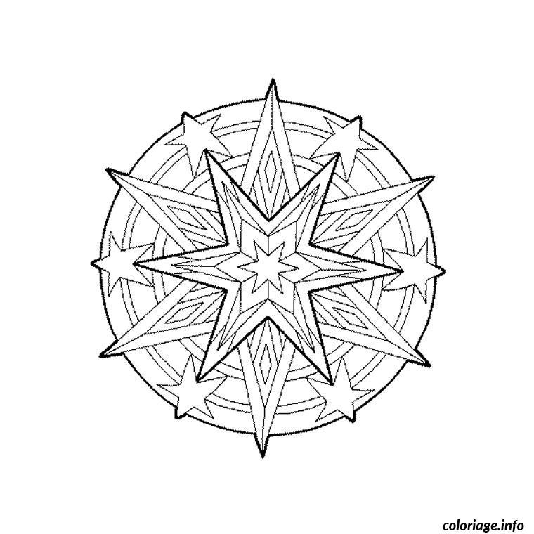 Coloriage mandala etoile dessin - Dessin etoile des neiges ...