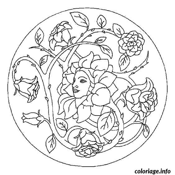 Dessin mandala printemps Coloriage Gratuit à Imprimer