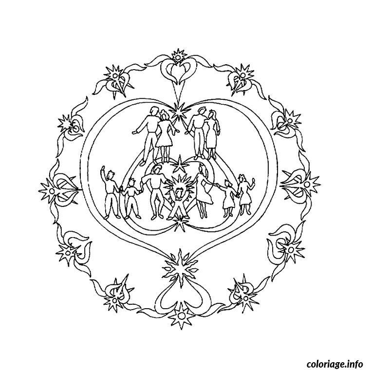 Coloriage mandala amour dessin - Dessin sur l amour ...