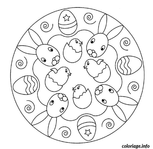Coloriage mandala de paques dessin - Dessin de paques facile ...