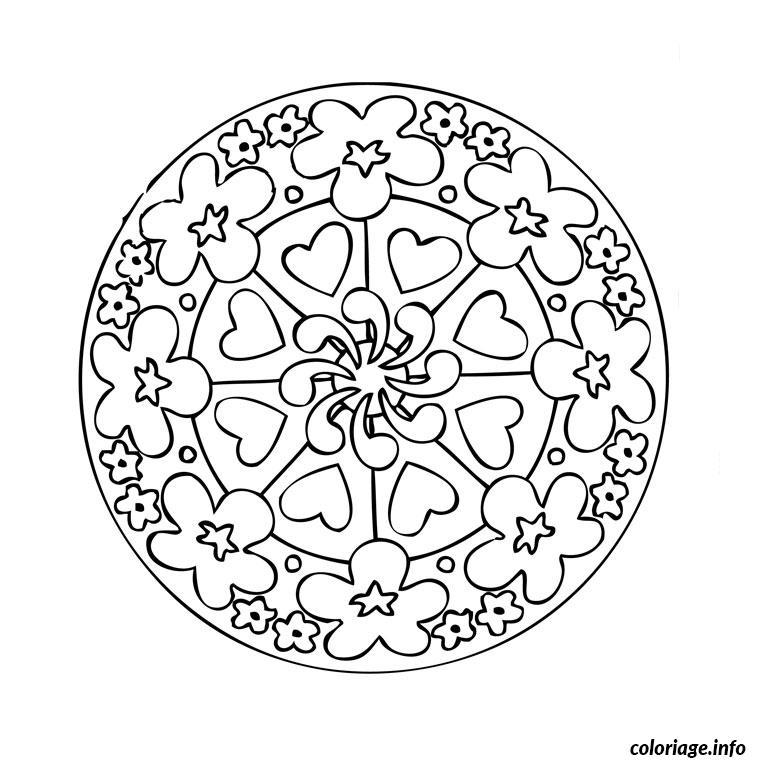 Coloriage mandala difficile 26 dessin - Mandala a colorier en ligne ...