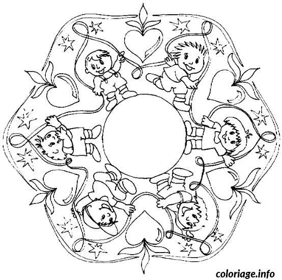 coloriage mandala garcon dessin imprimer